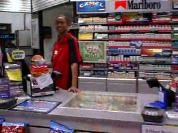 A black chick working in a store..