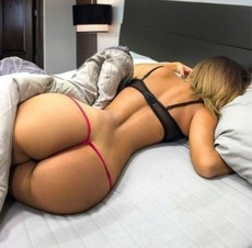 Sexy blonde booty in this hot thong..